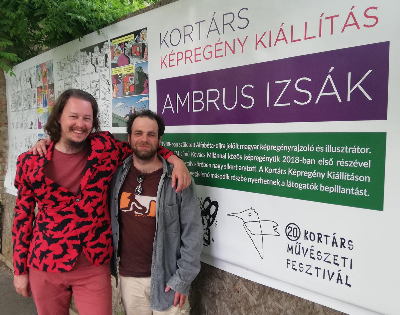 Kovács Milán és Ambrus Izsák a Kortárs Képregény Fesztiválon 2019-ben Székesfehérváron
