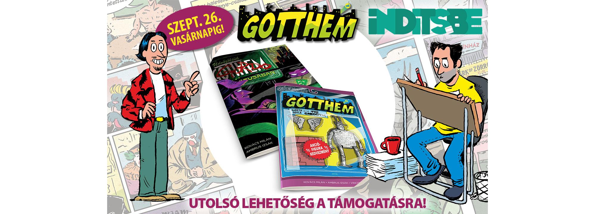 iNDiTS.be: GOTTHEM 1-2. - A szuperhős-paródia képregény